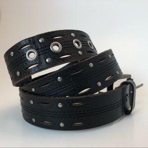 Carhartt Dark Brown Genuine Leather Belt